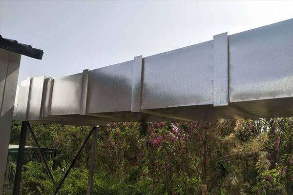 室外通风管道铝皮保温