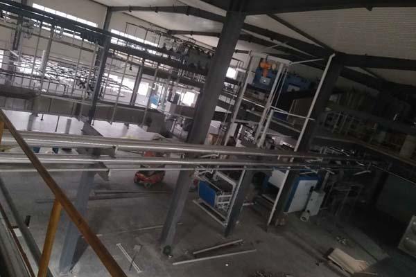 蒸汽管道保温工程施工现场